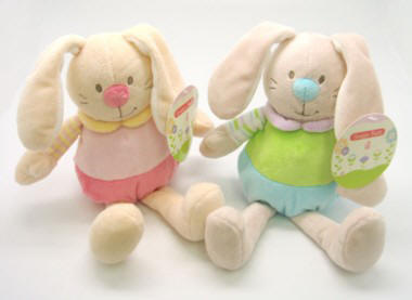 Floppy Rabbit Soft Toys with Rattle Sound (Box Quantity 96)